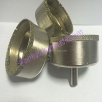 Electroplated square diamond hole glass drill bit with diameter 3-120mm