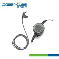 Two-way Radio Headset with Ear Bone Mic ,Large Round PTT,New Desigh Chicken Mouth Shape Earbone Plug,comfortable wearing long