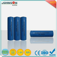 phone battery aa 1.5v rechargeable battery imr