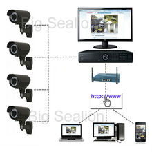 k&d cctv camera outdoor 700tvl videos bullet camera & security DVR Kits