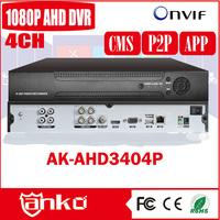 2016 New arrival 4ch CCTV H 264 DVR software download 1080P Hybrid AHD DVR