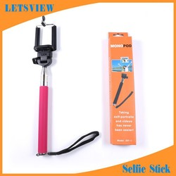 LETSVIEW Factory cheap price wireless monopod selfie stick walking stick with s for Samsung/Nokia/Nexus/Note Handheld monopod