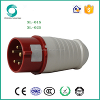 110v-500v XL-0 SERIES 5 pin 63 amp industrial plug & socket