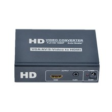 VGA+STEREO+AV/S-VIDEO Converter To HDMI converter 1080P