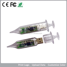 plastic injector usb flash drive unique promotional products medical gift for doctors