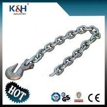 """Professional galvanized G70 5/16"""" chain anchor with delta ring & eye grab hook"""
