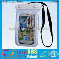 mobile phone waterproof bag for samsung galaxy S3 with IPX8 certificate