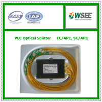 Low price 1310/1550 1*16 optical splitter with SC/APC or FC/APC connector