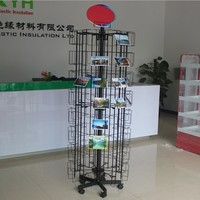 metal business card display with sign holder
