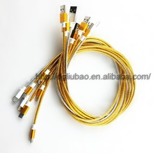 Perfume usb data cable for Samsung,aluminum alloy cable for V8