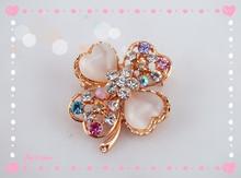 Beautiful heart Clover Crystal Rhinestone Brooch Flower Brooch for Wedding Dress