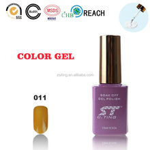 Cting uv&led gel nail polishes brand with 10ml in bottle packing as gift