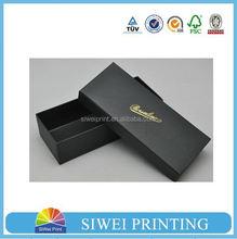Matte black cardboard gift box, unique cardboard box packaging for sunglass