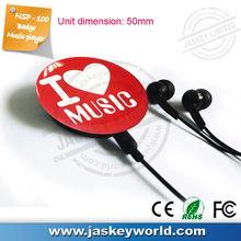 mini deporte insignia de música reproductor de mp3