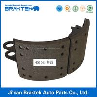 Auto parts semi-trailer brake shoe and brake lining assembly 4515E