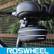 Wholesale logo customized waterproof leather bicycle saddle bag 13875-5 electric bike battery bag