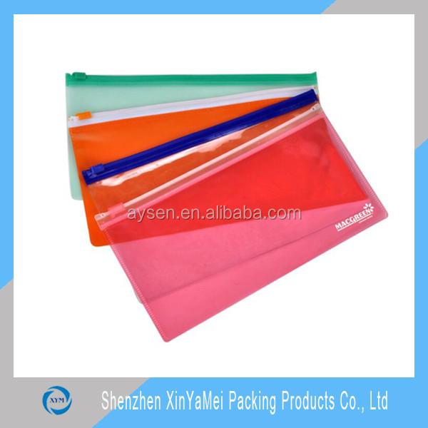 PVC Material and Bag Shape zipper file bag