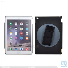 New Design Hand Hold Rotating Elastic Band Leather Case for iPad Air 2, 360 Degree Rotatable Leather Cover for iPad Air 2