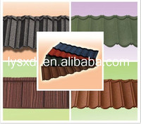 Colored Sand Aluminum Zinc Plate tile span roofing at factory/Stone coated roof sheet/Stone Coated Steel asphalt shingles