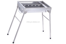 Factory low price cook tools foldable legs stainless steel mini bbq grill