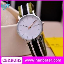 Simple design ladies watch woven strap accept custom nato strap watch for unisex