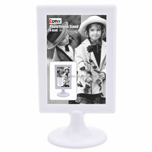 Exquisite Photo Frame for 2 Sided Pictures White