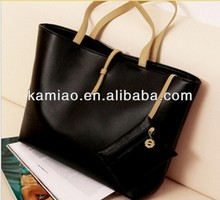wholesale fashion ladies cheap pu signature shopping tote shoulder bag purse and handbag