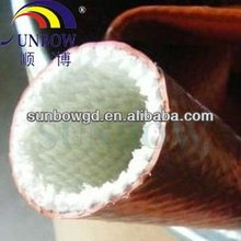 Fire resistance silicone fiberglass sleeving used in steel plants