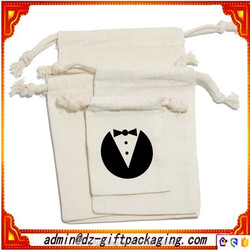 Wholesale Organic Cotton Bag /Pure Cotton Canvas Bag / Small Cotton Drawstring Bag