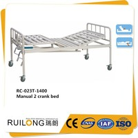 RC-023T Cheap 2 Crank Manual Hospital Bed For Sale