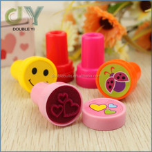 Custom 2015Plastic kids wooden cartoons stamp/rubber stamp/customized rubber stamp custom plastic stamps