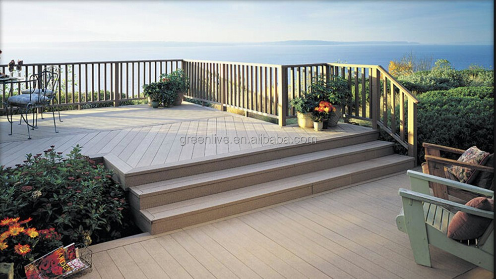 Hot sell garden path anti slip wood plastic composite wpc for Garden decking non slip
