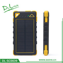Waterproof with Cover for Ports Solar Charger Portable Solar Power Bank