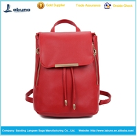 2015 High quality fashion pu leather cute backpack latest hot sale for teen girls