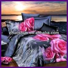 100% polyester 3d bedsheets hot sale