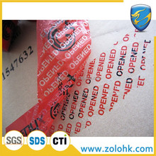 Factory price custom security tape, tamper evident VOID security tape with good viscosity