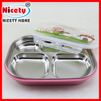 2015 New Arrival Stainless Steel Children Lunch Box With Compartments