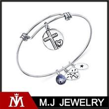 2015 journey love charm new design bracelet 8mm bangle bracelet