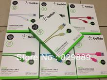 Gold Original Belkin 1.2M 4FT SYNC 8 Pin Cable For iphone 5 ipad mini F8j023