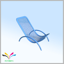 Desktop metal wire mesh blue chair shape for display mobilphone cute stationery