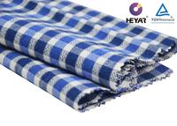 Blue Combo Tencel Cotton Check Shirt Cotton Flannel Fabric