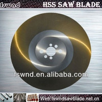 M42 M2 DM05 material golden hss circular saw blade for cutting metal pipe