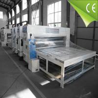 semi auto paper carton die cutting slotting used corrugated flexo printing machine