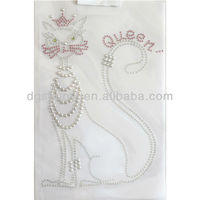 Rhinestone Iron On Transfer Hot fix Queen Decor Best /Fashion Design Embroidery