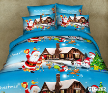 In a one horse open sleigh bedding set christmas