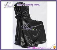 black satin wholesale cheap universal chair covers in wedding events decorations