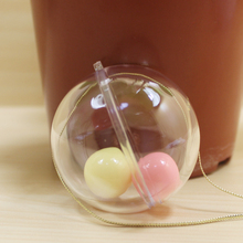 50MM Transparent Plastic Xmas Ball Transparent Plastic Christmas Ball