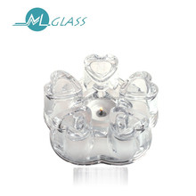 machine made glass candle holder 6176 for home decoration