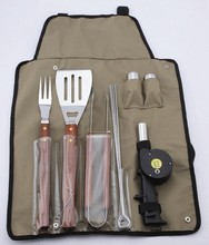 10 Piece stainless steel BBQ Set Tool/snap on tools of bbq set