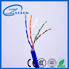 PE insulation full copper 305m cat6 cable lan